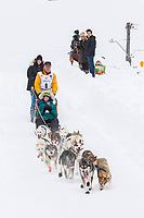Linwood Fiedler on Cordova St. hill during the Anchorage start day of  Iditarod 2018<br /> <br /> Photo by Trent Grasse /SchultzPhoto.com  (C) 2018  ALL RIGHTS RESERVED