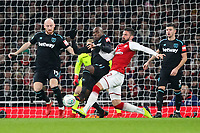 Pedro Obiang of West Ham United and Olivier Giroud of Arsenal during the Carabao Cup Quarter Final match between Arsenal and West Ham United at Emirates Stadium on December 19th 2017 in London, England. <br /> Premier League 2017/2018 <br /> Foto Panoramic / Insidefoto