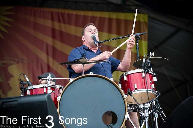 Fred LeBlanc of Cowboy Mouth performs during the New Orleans Jazz & Heritage Festival in New Orleans, LA.