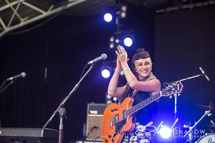 Hiatus Kaiyote performing at Meredith Music Festival 2012 held at the Meredith Supernatural Ampitheatre, 7-9 December 2012