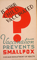 Work Projects Administration (WPA) poster for smallpox produced between 1936 and 1943. (Library of Congress)