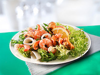 Seafood salad of prawns, mussels & calimari