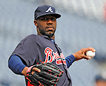 2 April 2011: Atlanta Braves right fielder Jason Heyward warms up prior to a game against the Washington Nationals at Nationals Park in Washington, District of Columbia. The Nationals defeated the Braves 6-3 in the second game of their season opening series. Mandatory Credit: Ed Wolfstein Photo