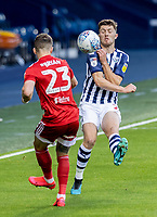 Fulham's Joe Bryan (left) competing with West Bromwich Albion's Dara O'Shea <br /> <br /> Photographer Andrew Kearns/CameraSport<br /> <br /> The EFL Sky Bet Championship - West Bromwich Albion v Fulham - Tuesday July 14th 2020 - The Hawthorns - West Bromwich <br /> <br /> World Copyright © 2020 CameraSport. All rights reserved. 43 Linden Ave. Countesthorpe. Leicester. England. LE8 5PG - Tel: +44 (0) 116 277 4147 - admin@camerasport.com - www.camerasport.com