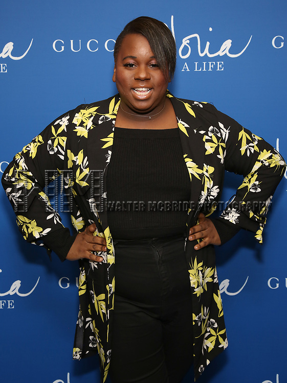 "Alex Newell attends the Opening Night Performance of ""Gloria: A Life"" on October 18, 2018 at the Daryl Roth Theatre in New York City."