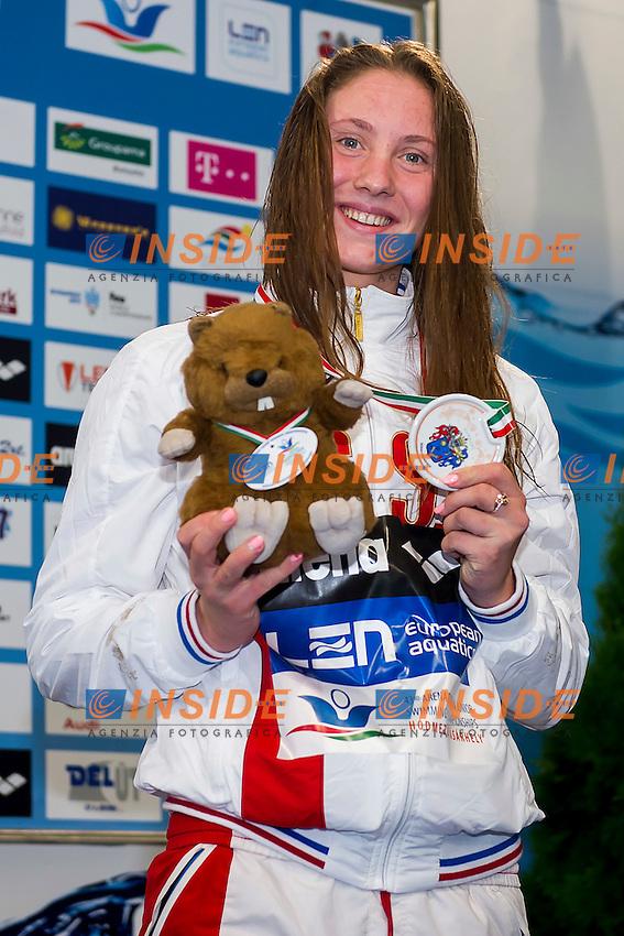 Kirpichnikova Anastasiia RUS<br /> 400 Freestyle Women Final Bronze Medal<br /> LEN 43rd Arena European Junior Swimming Championships<br /> Hodmezovasarhely, Hungary <br /> Day02 07-07-2016<br /> Photo Andrea Masini/Deepbluemedia/Insidefoto