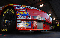 Mar 31, 2007; Martinsville, VA, USA; The front splitter on the car of Nascar Nextel Cup Series driver Dale Earnhardt Jr (8) during practice for the Goody's Cool Orange 500 at Martinsville Speedway. Martinsville marks the second race for the new car of tomorrow. Mandatory Credit: Mark J. Rebilas..