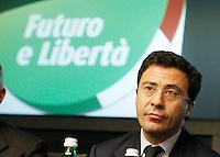 CONFRENZA STAMPA D I PRESENTAZIONE  CANDIDATI  DI FLI PER IL COLLEGGIO CAMPANIA 1.NELLA FOTO ITALO BOCCHINO N ° 2.FOTO CIRO DE LUCA