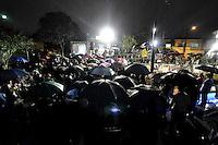 SÃO PAULO, SP, 15 DE JULHO DE 2012 - INAUGURAÇÃO MEMORIAL 17 DE JULHO: Inaugurado na noite desta terça feira (17) o Memorial 17 de Julho, localizado na Av. Washington Luis em frente ao Aeroporto de Congonhas  em São Paulo, onde em 2008 caiu o Airbus JJ320 da TAM. Familiares das vítimas compareceram ao local para assistir uma missa e prestar homenagens com flores e estrelas depositadas no espelho dágua. FOTO: LEVI BIANCO - BRAZIL PHOTO PRESS