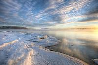 Sunset over Teslin Lake, Yukon.