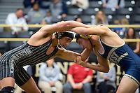 NWA Democrat-Gazette/JASON IVESTER<br /> Bentonville's Cash Jones wrestles against Bentonville West's Michael Kirmer on Thursday, Jan. 26, 2017, at Bentonville High School.