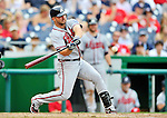 24 September 2011: Atlanta Braves second baseman Dan Uggla in action against the Washington Nationals at Nationals Park in Washington, DC. The Nationals defeated the Braves 4-1 to even up their 3-game series. Mandatory Credit: Ed Wolfstein Photo