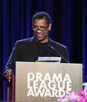 Denzel Washington on stage during the 2018 Drama League Awards at the Marriot Marquis Times Square on May 18, 2018 in New York City.