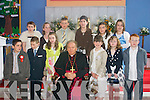 Bishop Bill Murphy with Confirmation pupils from Cillin Liath National School in St Finians Church, Waterville, on.Thursday last. Front l-r: Sean O Suilleabhain, Pol Clees, Emma Casey, Shauna Donoghue, Cara OShea and Jamie Banks..Back l-r: Aimee Curran, Ciara OShea, David Moriarty, Aoife Sheehan, Sandra OShea and Kate Ni She.