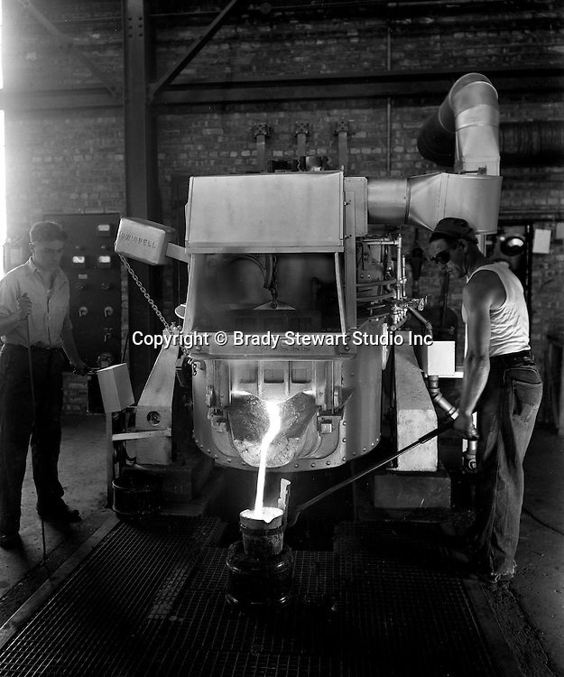 Pittsburgh PA:  On location photography for the Swindell Company.  The new Swindell Electric Melting Furnace in operation - 1930