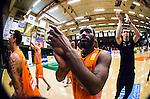 S&ouml;dert&auml;lje 2014-04-26 Basket SM-final S&ouml;dert&auml;lje Kings - Norrk&ouml;ping Dolphins :  <br /> Norrk&ouml;ping Dolphins William Walker jublar med lagkamrater efter matchen<br /> (Foto: Kenta J&ouml;nsson) Nyckelord:  S&ouml;dert&auml;lje Kings SBBK Norrk&ouml;ping Dolphins SM-final Final T&auml;ljehallen jubel gl&auml;dje lycka glad happy