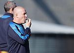 Mark Warburton blows his whistle to end training