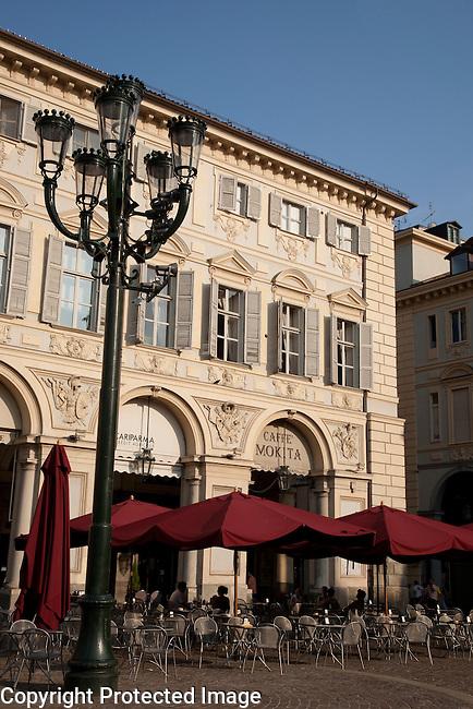 Mokita Cafe in St Carlo Square in Turin - Torino; Italy