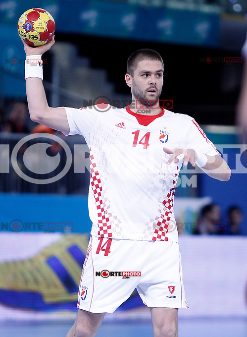 Croatia's Drago Vukovic during 23rd Men's Handball World Championship preliminary round match.January 14,2013. (ALTERPHOTOS/Acero) 7NortePhoto