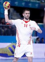Croatia's Drago Vukovic during 23rd Men's Handball World Championship preliminary round match.January 14,2013. (ALTERPHOTOS/Acero) 7NortePhoto