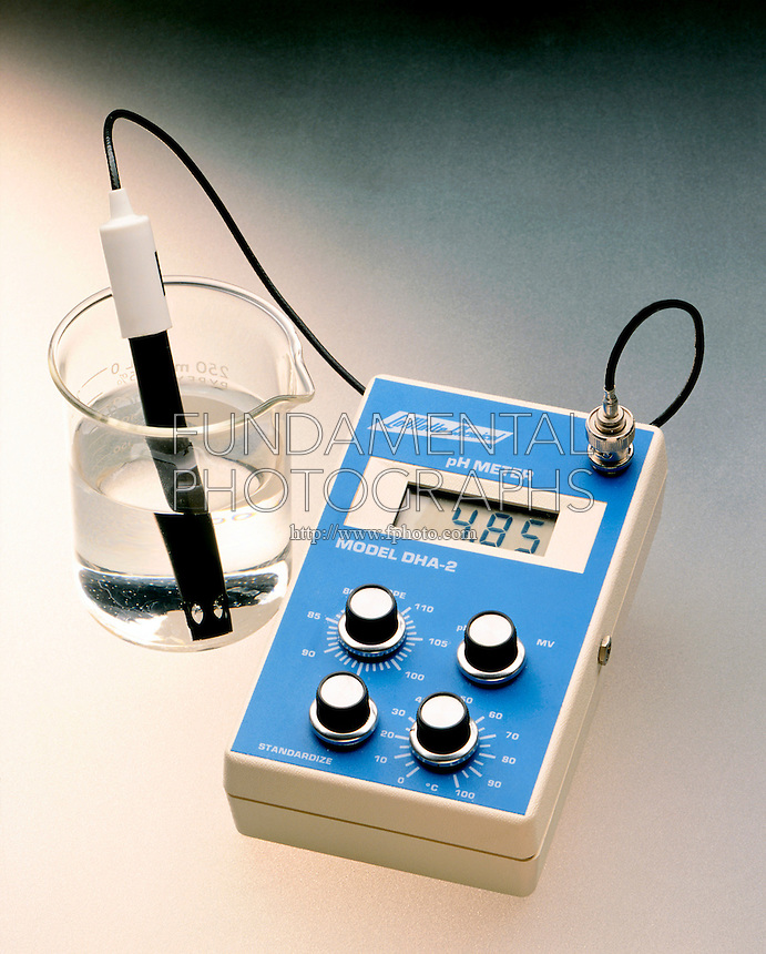pH METER MEASURES COMMON ION EFFECT (1 of 2)<br /> Acetic Acid Has A pH Reading Of 4.85<br /> Acetic acid, considered a weak acid, and sodium acetate both have the acetate ion in common.  CH3CO2-(aq)