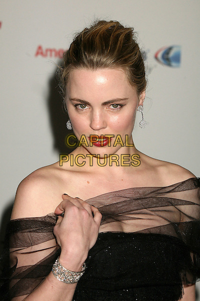 "MELISSA GEORGE.14th Annual Race to Erase MS Themed ""Dance to Erase MS"" at the Century Plaza Hotel, Century City, California, USA, 13 April 2007..portrait headshot black sheer top dress off the shoulder red lipstick pouting.CAP/ADM/BP.©Byron Purvis/AdMedia/Capital Pictures."