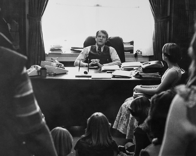 Rep. Jerry M. Patterson, D-Calif., in his office. (Photo by CQ Roll Call)