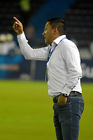 BARRANQUILLA - COLOMBIA - 18 - 04 - 2017: Diego Corredor, técnico de Patriotas F.C. durante partido de la fecha 13 entre Atletico Junior y Patriotas F.C. por la Liga Aguila I-2017, jugado en el estadio Metropolitano Roberto Melendez de la ciudad de Barranquilla. / : Diego Corredor,coach of Patriotas F.C. during a match of the date 13 between Atletico Junior and Patriotas F.C. for the Liga Aguila I-2017 at the Metropolitano Roberto Melendez Stadium in Barranquilla city, Photo: VizzorImage  / Alfonso Cervantes / Cont.