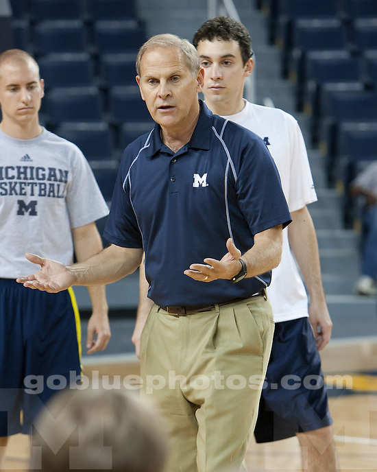 The University of Michigan men's basketball team at their Media Day activities at Crisler Arena and the Junge Center in Ann Arbor, Mich., on October 11, 2011.