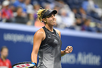 FLUSHING NY- SEPTEMBER 04: ***NO NY DAILIES***  Madison Keys Vs Elina Svitolina: Madison Keys reacts during her match against Elina Svitolina on Arthur Ashe Stadium during the US Open at the USTA Billie Jean King National Tennis Center on September 4, 2017 in Flushing Queens. Credit: mpi04/MediaPunch