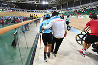 Picture by Simon Wilkinson/SWpix.com 25/03/2018 - Cycling 2018 UCI  Para-Cycling Track Cycling World Championships. Rio de Janeiro, Brazil - Barra Olympic Park Velodrome - Day 4 - Scratch Race Final<br />