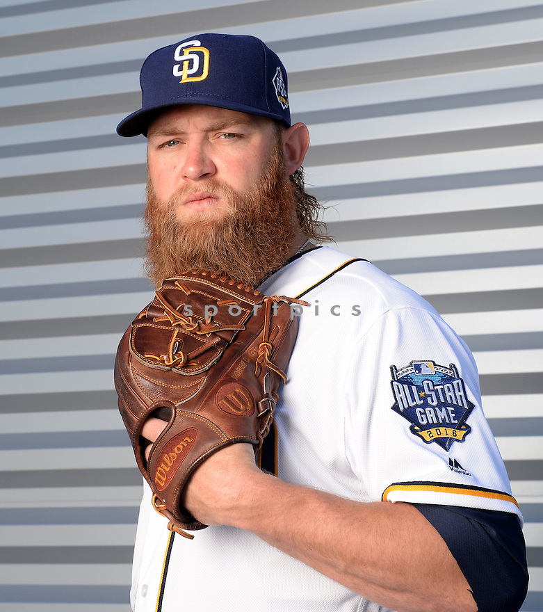 San Diego Padres Andrew Cashner (34) during photo day on February 26, 2016 in Peoria, AZ.