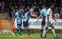 Dayle Southwell of Wycombe Wanderers celebrates his goal from the penalty spot during the pre season friendly match between Aldershot Town and Wycombe Wanderers at the EBB Stadium, Aldershot, England on 22 July 2017. Photo by Andy Rowland.