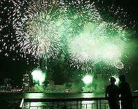 Windsor, Ontario - Firework on Windsor's riverside Wednesday June 28, 2006