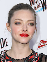 """WESTWOOD, LOS ANGELES, CA, USA - MAY 15: Amanda Seyfried at the Los Angeles Premiere Of Universal Pictures And MRC's """"A Million Ways To Die In The West"""" held at the Regency Village Theatre on May 15, 2014 in Westwood, Los Angeles, California, United States. (Photo by Xavier Collin/Celebrity Monitor)"""