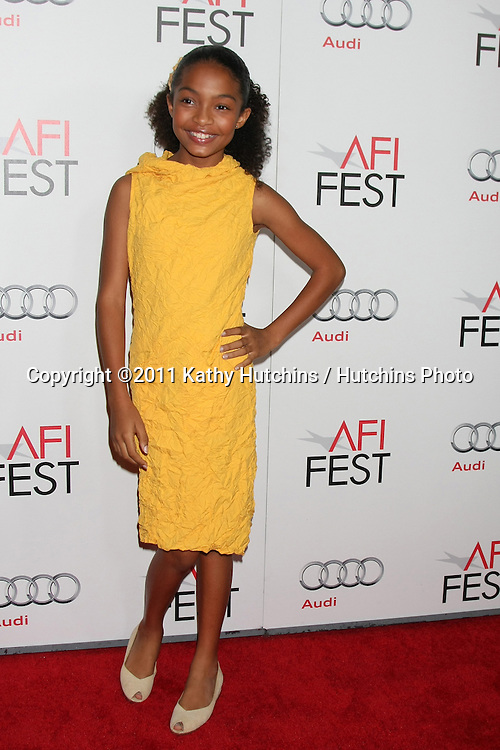 "LOS ANGELES - NOV 6:  Yara Shahidi arrives at the ""Butter"" Screening at the AFI Fest 2011 at Grauman's Chinese Theater on November 6, 2011 in Los Angeles, CA"