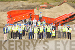 Some of the large crowd at the Sandvik machinery display in Quirkes Quarry Killarney on Saturday