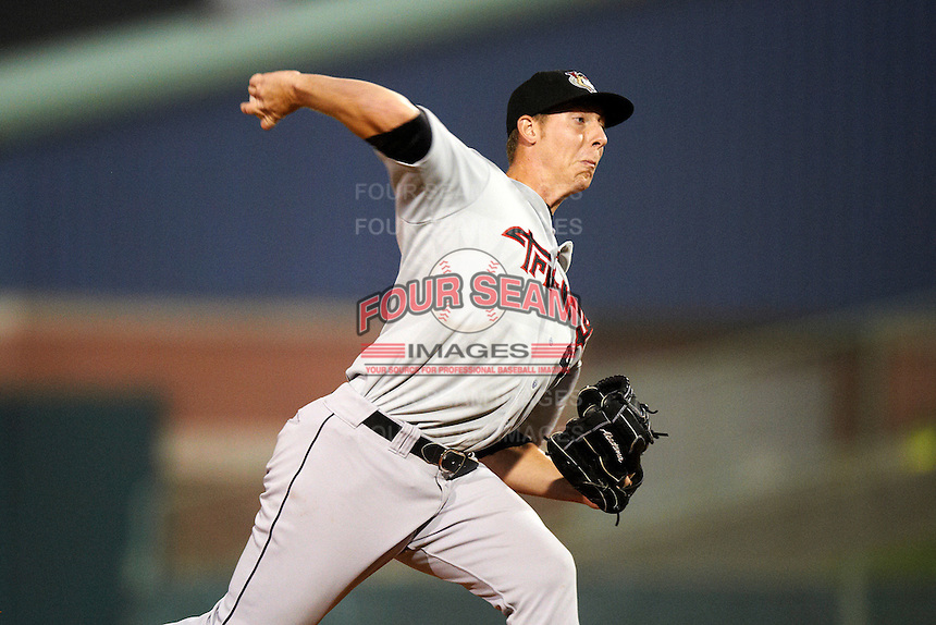 Tri-City ValleyCats pitcher Blake Ford #43 during the NY-Penn League All-Star Game at Eastwood Field on August 14, 2012 in Niles, Ohio.  National League defeated the American League 8-1.  (Mike Janes/Four Seam Images)