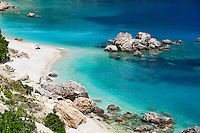 The beach Vouti in Kefalonia island, Greece