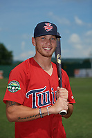 Elizabethton Twins DaShawn Keirsey (8) poses for a photo before a game against the Bristol Pirates on July 29, 2018 at Joe O'Brien Field in Elizabethton, Tennessee.  Bristol defeated Elizabethton 7-4.  (Mike Janes/Four Seam Images)