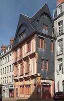 Plus ancienne maison de la ville de Nantes, place du Change