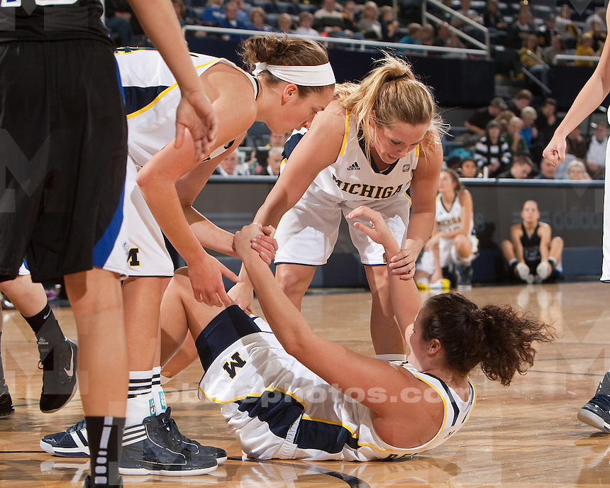 University of Michigan women's basketball beat Indiana State University 72-44 at Crisler Arena in Ann Arbor, Mich., on December 17, 2011.