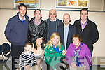Siobhain Fleming with her family at Kerry Airport Monday night front row l-r: Mary Rose, Siobhain and Joan Fleming. Back row: David Cieran, Jimmy Fleming, Paudie O'Connor and James Fleming