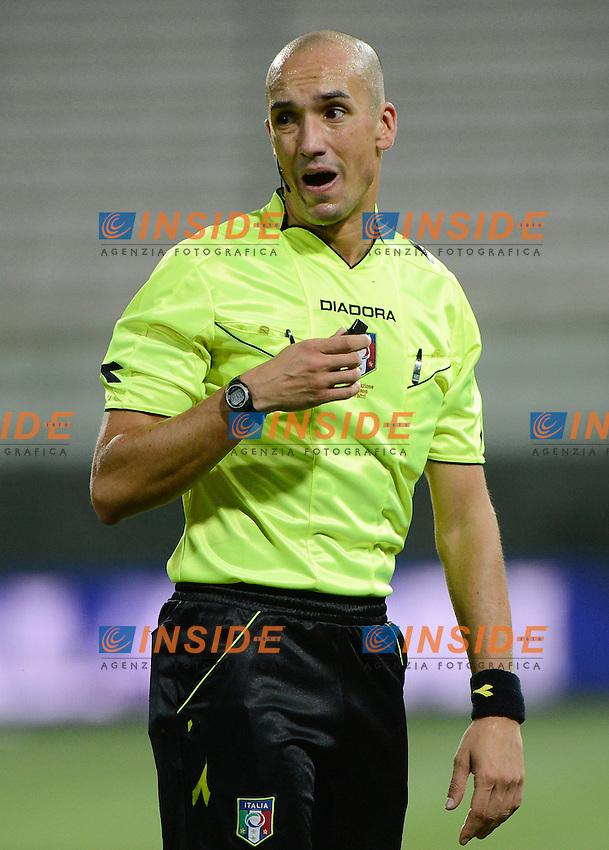 Michael Fabbri Referee. arbitro<br /> Parma 28-07-2014 Stadio Tardini - Football Calcio Amichevole. Pre season training. Parma - Monaco Foto Giuseppe Celeste / Insidefoto