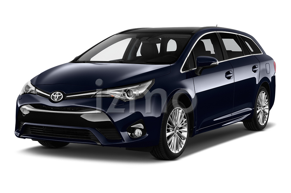 2017 Toyota Avensis TS Premium 5 Door Wagon angular front stock photos of front three quarter view