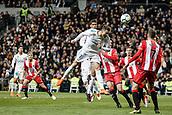 18th March 2018, Santiago Bernabeu, Madrid, Spain; La Liga football, Real Madrid versus Girona; Cristiano Ronaldo (Real Madrid) wins the header in the box