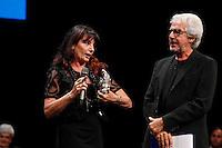 Cerimonia di consegna del premio Le Maschere del Teatro Italiano al Teatro San Carlo di Napoli , 5 Settembre 2014<br /> nella foto Zaira De Vincentis premio per i migliori costumi