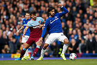 Albian Ajeti of West Ham United and Andre Gomes of Everton during the Premier League match between Everton and West Ham United at Goodison Park on October 19th 2019 in Liverpool, England. (Photo by Daniel Chesterton/phcimages.com)<br /> Foto PHC/Insidefoto <br /> ITALY ONLY
