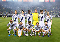 CARSON, CA - March 10,2012: LA Galaxy starting line up for the game against Real Salt Lake at the Home Depot Center in Carson, California. Final score LA Galaxy 1, Real Salt Lake 3.