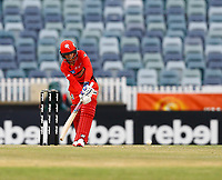 1st November 2019; Western Australia Cricket Association Ground, Perth, Western Australia, Australia; Womens Big Bash League Cricket, Perth Scorchers versus Melbourne Renegades; Danielle Wyatt of the Melbourne Renegades plays to through midwicket during her innings
